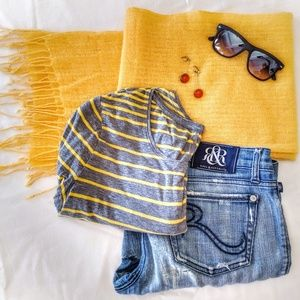 Beautiful Golden Yellow Cashmere Scarf